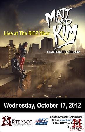 Matt and Kim October 17, 2012