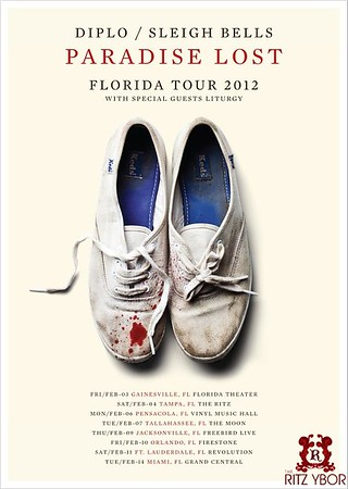 """Sleigh Bells / Diplo """"Paradise Lost Tour"""" February 4, 2012"""