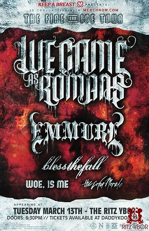 """We Came As Romans """"The Fire and Ice Tour"""" March 13, 2012"""