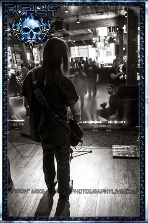 "Me on the floor during soundcheck. Photo by ""Iron Mike"" Savoia."
