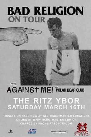 Bad Religion & Polar Bear Club March 16, 2013