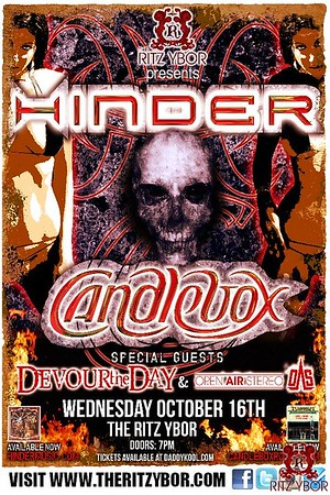 Hinder / Candlebox October 16, 2013