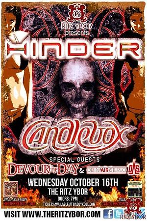 Hinder / Candlebox October 16, 2013