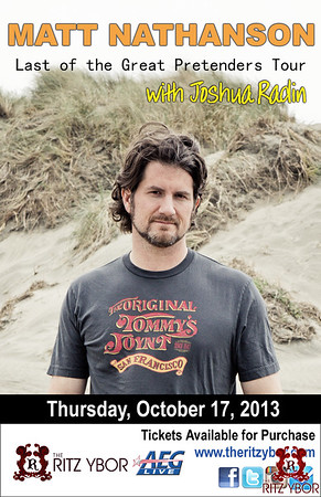 Matt Nathanson / Joshua Radin October 17, 2013