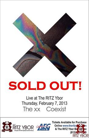 "The XX ""Coexist Tour"" February 7, 2013"