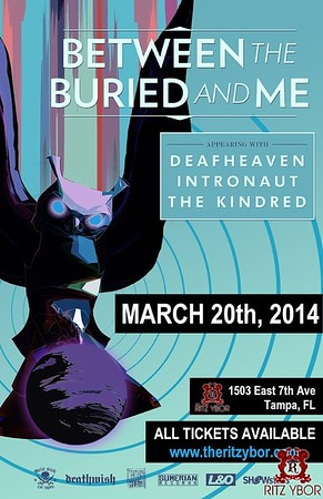 Between the Buried & Me Sunday, March 20, 2014