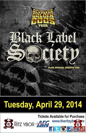 Black Label Society Tuesday April 29, 2014