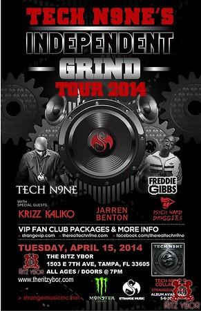Tech N9ne Independent Grind Tour 2014