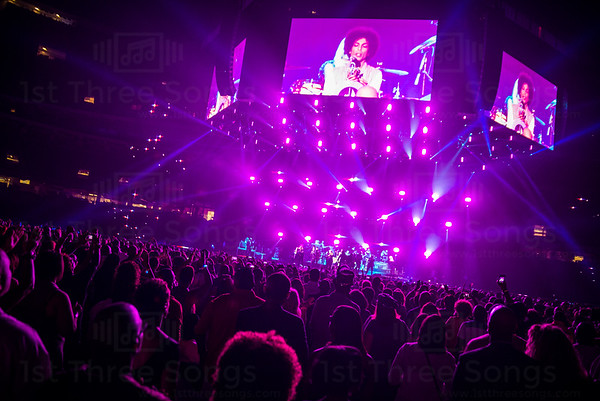 Prince performs on the Main Stage during the 20th Essence Musical Festival in the Mercedes Benz Superdome, New Orleans Louisiana on Friday, July 4, 2014.
