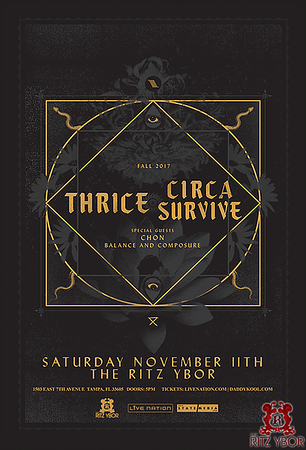 Thrice + Circa Survive w/ Chon & Balance and Composure