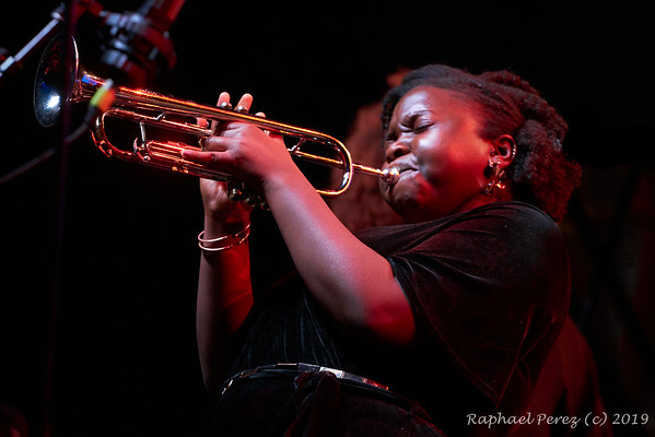 2019 TSF Jazz show in Salle Pleyel, Paris Sheila Maurice-Grey , trumpeter  in Kokoroko band