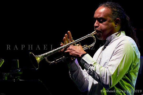 2019 TSF Jazz show in Salle Pleyel, Paris Trumpeter Ronald Baker supporting Mario Canonge and Mario Zenino Quintet