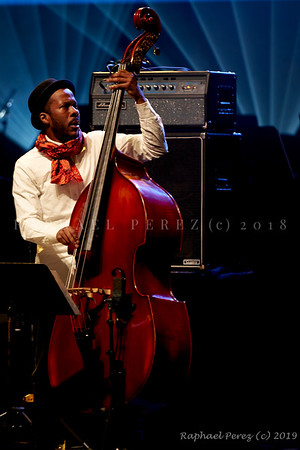 2019 TSF Jazz show in Salle Pleyel, Paris Double bass  Joe Sanders supporting Alina Engibaryan