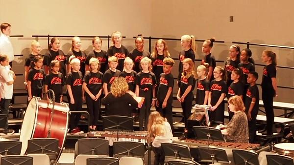 Sudlow Intermediate Fall 6th Grade Concert. 6th Grade Honor Choir.