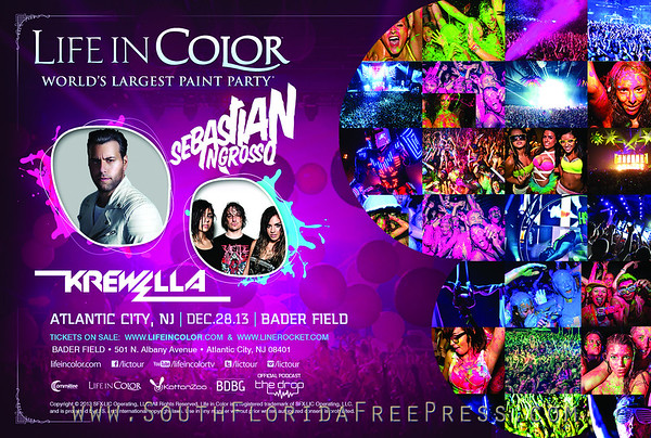 2ND ANNUAL LIFE IN COLOR CONCERT WITH SEBASTIAN INGROSSO & KREWELLA