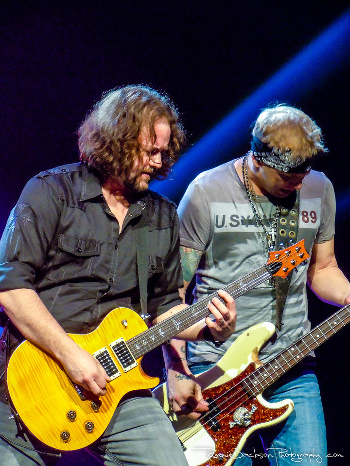 Chet Roberts and Todd Harrell of 3 Doors Down performing at Verizon Theater in Grand Prairie, TX<br /> <br /> <br /> 01/25/2013<br /> © 2013 Ronnie Jackson Photography