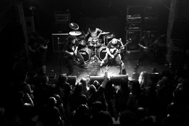 Arkaik performed with Cannibal Corpse at Freebird Live in Jacksonville, FL, on 05 April 2012