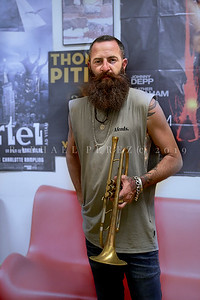 Trumpeter Avishai Cohen (tr) after his show with Big Vicious band in Paris. June 2019.