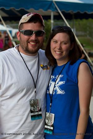 Brad Paisley Fan Club Party - Luke and Nicole