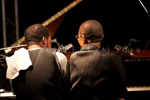 Cecil McLorin Salvant duet show with Sullivan Fortner in New Morning club Paris on May 2019