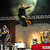 "For King and Country - Joel Smallbone in mid air, Benjamin Backus, Timmy Jones ""The Duke"""