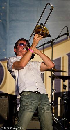 Mark Mullins of Bonerama. Taken at the 2011 Western Maryland Blue Festival