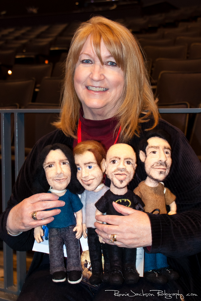A Daughtry fan who made lifelike dolls for the band members.<br /> <br /> 01/25/2013<br /> © 2013 Ronnie Jackson Photography