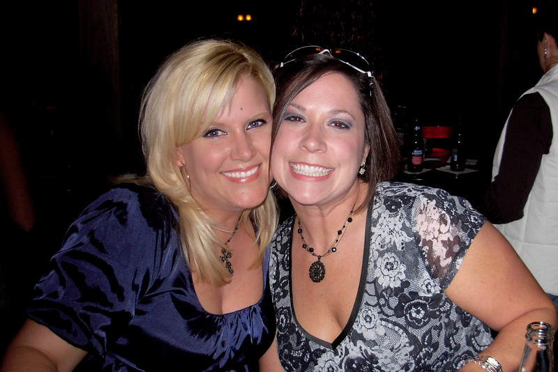 Andrea & Jen before the show having drinks at Whiskey Roadhouse