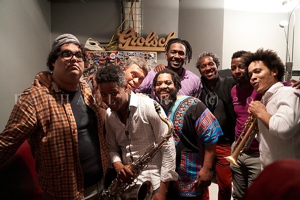Cuban band El Comite show in Paris, New Morning. April 2019 ; After show in backstage