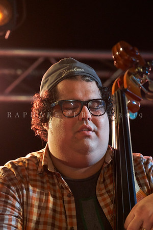 Cuban band El Comite show in Paris, New Morning. April 2019. Double bass Gaston Joya