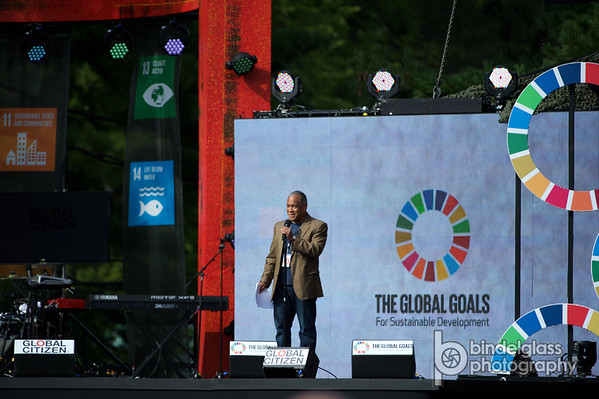 Mitchell J. Silver, FAICP Commissioner of the New York City Department of Parks and Recreation. Global Citizen Festival Sept. 26, 2015 Great Lawn Central Park. Photo by, Perry Bindelglass