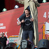 Stephen Colbert and Hugh Jackman  Hosts of The Global Citizen Festival Sept. 26, 2015 Great Lawn Central Park. Photo by, Perry Bindelglass