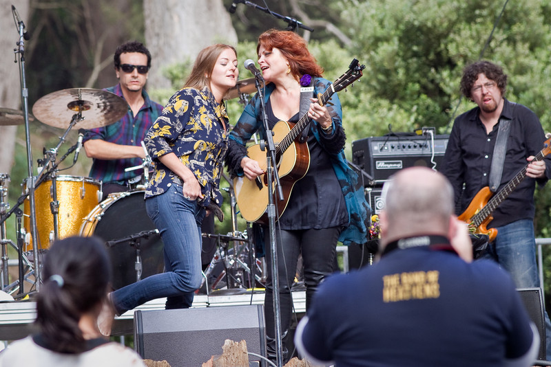Rosanne Cash and her daughter at Hardly Strictly Bluegrass Festival in Golden Gate Park, SF