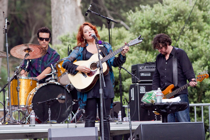 Rosanne Cash at Hardly Strictly Bluegrass Festival in Golden Gate Park, SF