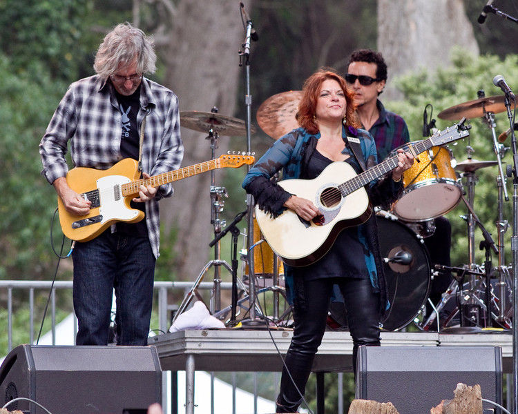 John Leventhal and Rosanne Cash at Hardly Strictly Bluegrass Festival in Golden Gate Park, SF