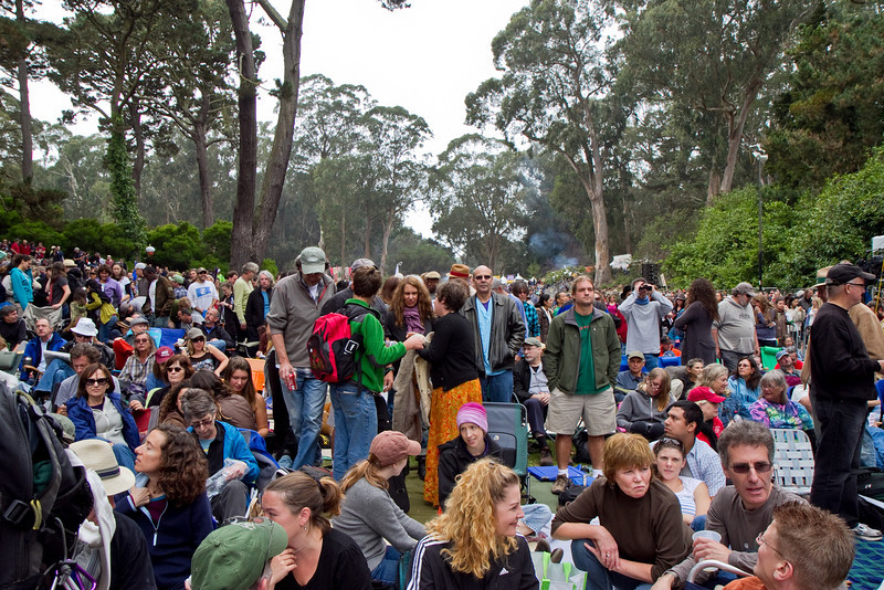 Crowd at Hardly Strictly Bluegrass Festival in Golden Gate Park, SF