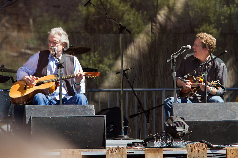 Guy Clark and Shawn Camp at Hardly Strictly Bluegrass Festival, 2012.
