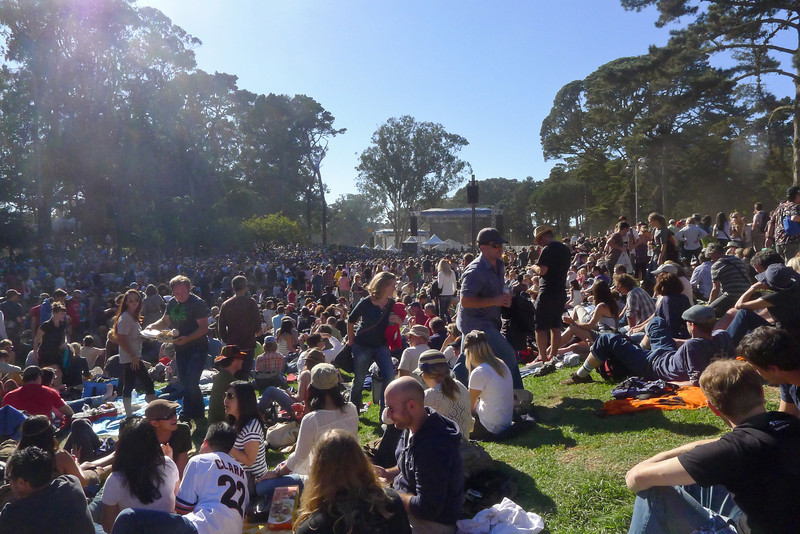 Crowd at the Star stage at Hardly Strictly Bluegrass Festival, 2012.