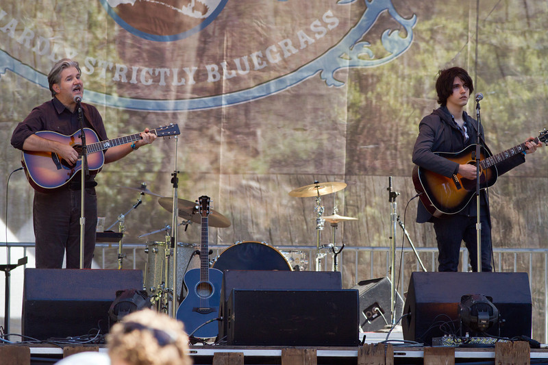 Lloyd and Will Cole at Hardly Strictly Bluegrass Festival, 2012.