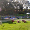 Gold stage before the crowds at Hardly Strictly Bluegrass Festival, 2012.