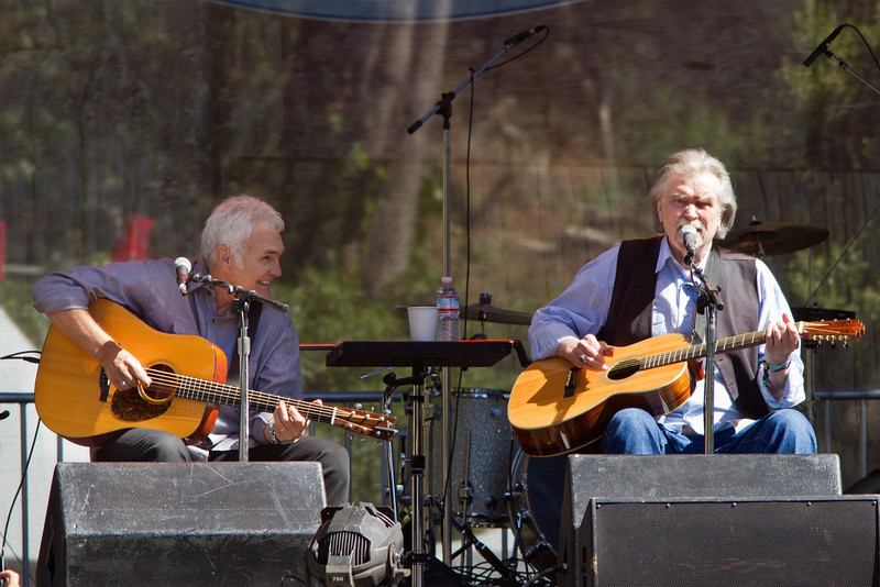 Verlon Thompson and Guy Clark at Hardly Strictly Bluegrass Festival, 2012.