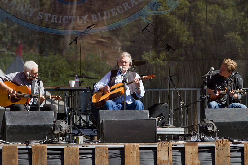 Verlon Thompson, Guy Clark, and Shawn Camp at Hardly Strictly Bluegrass Festival, 2012.