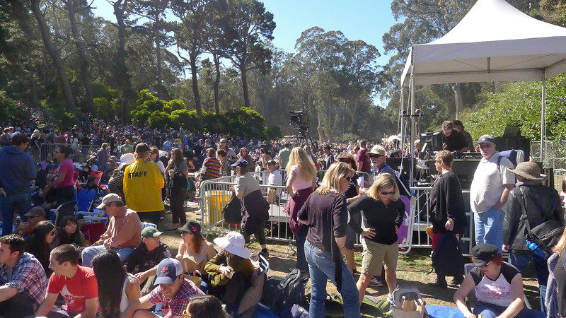 Early afternoon crowd at the Rooster stage at Hardly Strictly Bluegrass Festival, 2012.