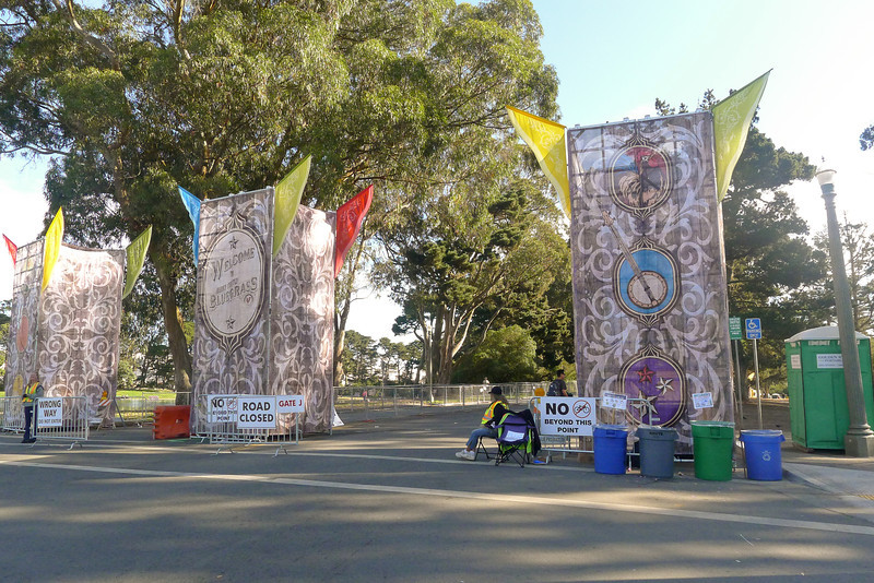 Entrance to Hardly Strictly Bluegrass Festival at Golden Gate Park, 2012.