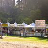 Food vendors before the crowds at Hardly Strictly Bluegrass Festival, 2012.