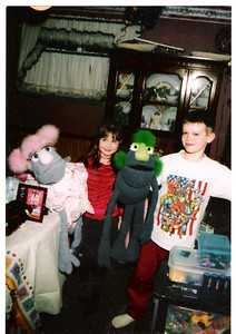 Justin & Brooke with Puppets