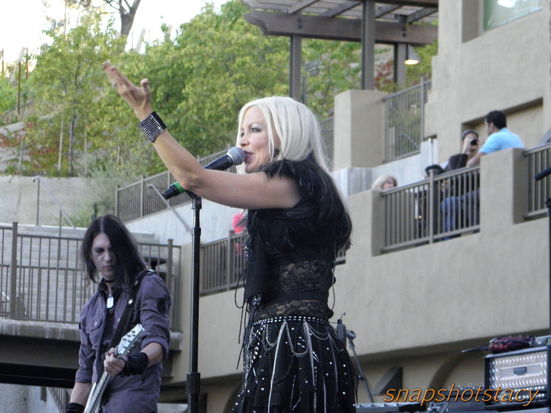 Terri Nunn of Berlin & guitarist Carlton Bost.