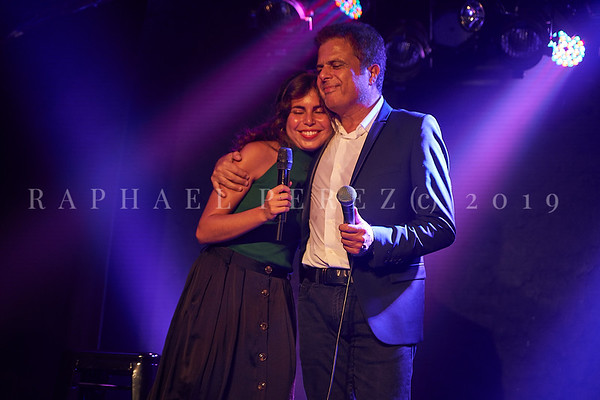 Norbert Darmon and his daughter, singer  Laurie sharing the stage for a special private show.