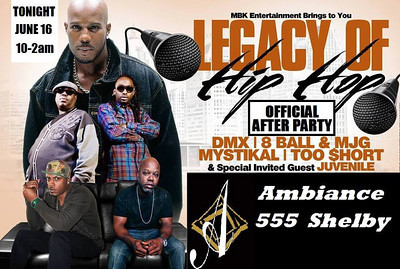 Legends of Hip Hop Tour: Dmx, Mystical, 8ball and MJG, TooShort