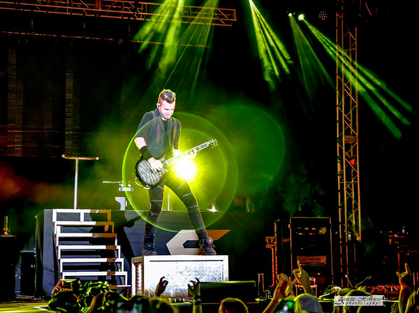 Seth Morrison of Skillet in concert at Uprise Festival in Shippensburg, PA